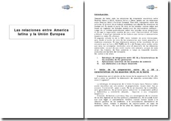Las relaciones entre America latina y la Unión Europea