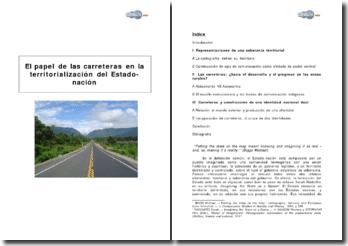 El papel de las carreteras en la territorialización del Estado-nación en América Latina
