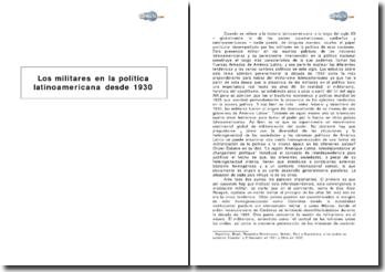 Los militares en la política latinoamericana desde 1930