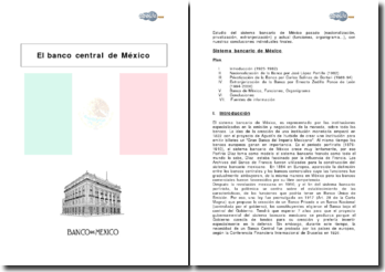 El banco central de Mexico