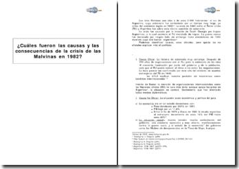 Cuáles fueron las causas y las consecuencias de la crisis de las Malvinas en 1982?