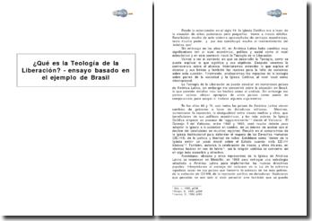 Qué es la Teología de la Liberación? - ensayo basado en el ejemplo de Brasil