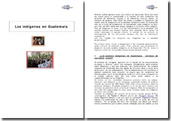 Los indígenas en Guatemala