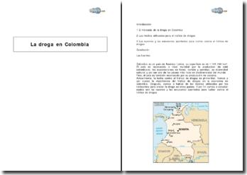 La droga en Colombia