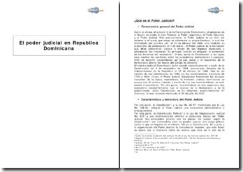 El poder judicial en Republica Dominicana