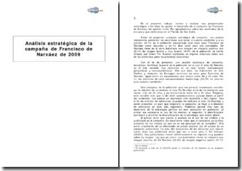 Análisis estratégica de la campaña de Francisco de Narváez en Argentina (2009)