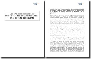 Las reformas comerciales implementadas en América Latina en la década del noventa