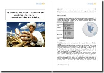 Le traité de libre-commerce de l'Amérique nord (TLCAN), et ses conséquences sur le Mexique