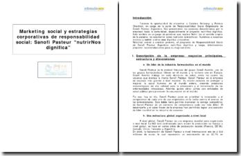 Marketing social y estrategias corporativas de responsabilidad social : Sanofi Pasteur nutrirNos dignifica