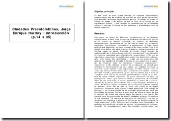 Ciudades Precolombinas, Jorge Enrique Hardoy : introducción (p.14 a 35)