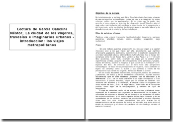 La ciudad de los viajeros, travesías e imaginarios urbanos, Garcia Canclini Néstor- introducción los viajes metropolitanos