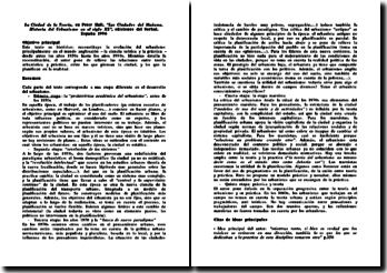 La ciudad de la teoría, Las Ciudades del Mañana, Historia del Urbanismo en el siglo XX, Peter Hall