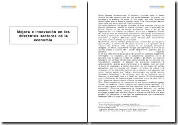 Mejora e innovación en los diferentes sectores de la economía