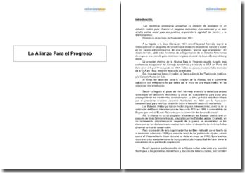 La alianza para el progreso - una etapa inédita en las relaciones interamericanas