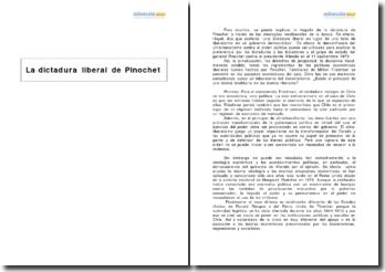 La dictadura liberal de Pinochet