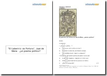 El Laberinto de Fortuna, Juan de Mena - un poema político?