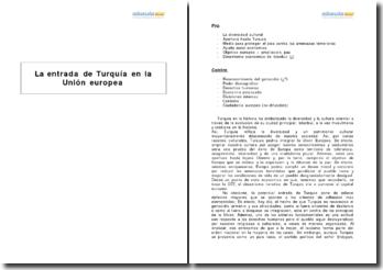 La entrada de Turquía en la Unión europea