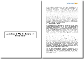 Analisis de El Año del desierto de Pedro Mairal