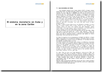 El sistema monetario en Cuba y en la zona Caribe