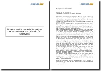 El bando de los perdedores: página 48 de la novela Hot Line de Luis Sepúlveda