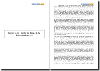 Carta de despedida - Ernesto Guevara