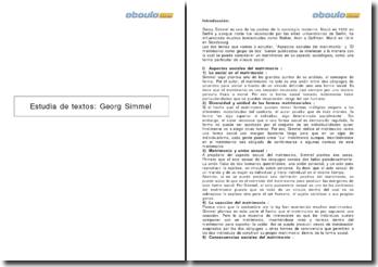 Estudia de textos: Georg Simmel