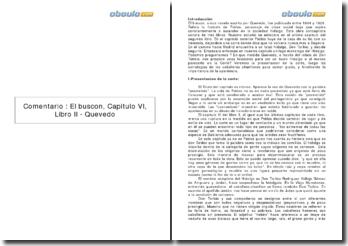 Comentario : El buscon, Capitulo VI, Libro II - Quevedo