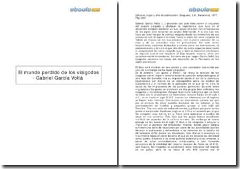 El mundo perdido de los visigodos - Gabriel García Voltá