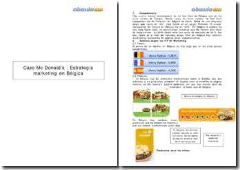 Caso Mc Donald's : Estrategia marketing en Bélgica