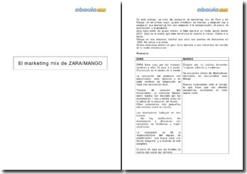 El marketing mix de Zara/Mango