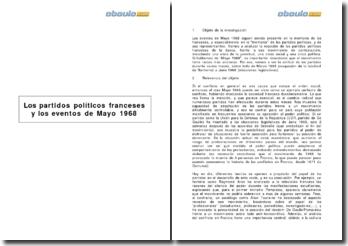 Los partidos políticos franceses y los eventos de Mayo 1968