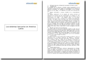 Los sistemas bancarios en America Latina