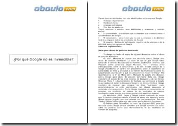Por qué Google no es invencible? (2009)