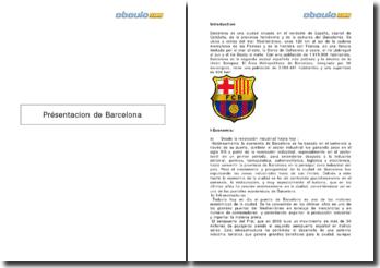 Présentacion de la ville de Barcelona