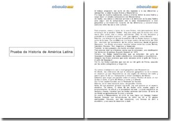 Prueba de historia de América Latina: la zona Andina y Mesoamérica