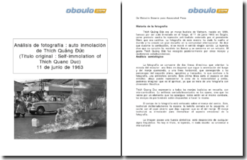 Análisis de fotografía : auto inmolación de Thích Quảng Đức el 11 de junio de 1963