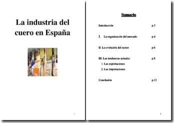 La industria del cuero en España