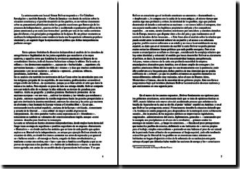 Carta a Simon Bolivar