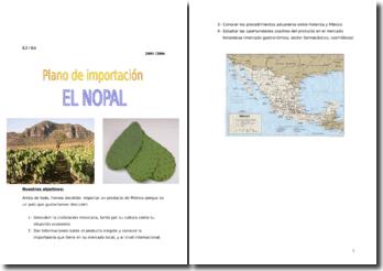 Plano de importación del nopal