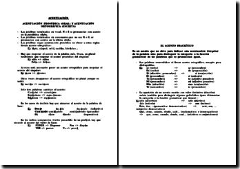Grammaire espagnole : accents, chiffres et pourcentages