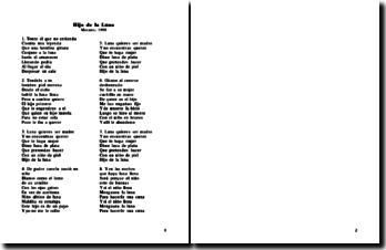 Comentario de texto de Hijo de la Luna, canción del grupo español Mecano