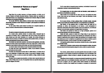 Diego Rivera, Esclavos en el ingenio, comentario del cuadro