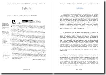 Patrulla, article publié en El País, Manuel Vicent