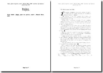 Epreuve d'espagnol au bac : Qué me quieres, amor?, Manuel Rives, 1995