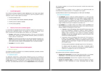 Las actividades del sector primario en España