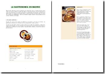 Exposé d'espagnol sur la gastronomie à Madrid