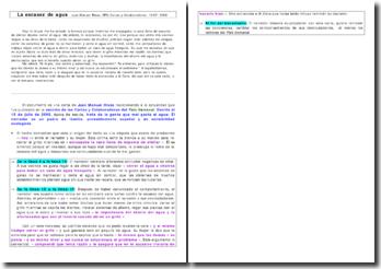 Etude d'un texte en cours d'espagnol : La escasez de agua, extrait du journal El Pais