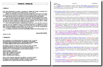 Etude de deux textes en espagnol : Vergüenza chanson de SKA-P et Nobleza article de Carmen Roco Godoy