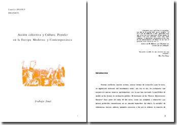 Acción colectiva y cultura popular en la Europa moderna y contemporánea