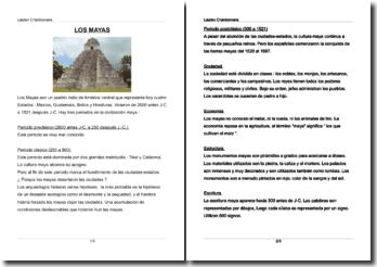 Exposé d'espagnol sur le peuple indien des mayas